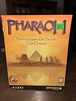 Sierra Pharaoh PC Game Big Box Complete Windows 95 98 Strategy Simulation 1999