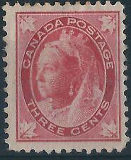 d244)  Canada. 1897/98. Unused. SG.145 3c Carmine.  Royalty. c£40+