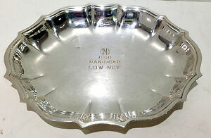 Chippendale International Silver Company Trophy Small Dish Plated Oval Scallop