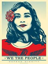 WE THE PEOPLE Defend Dignity Unsigned Offset Shepard Fairey Trump OFFICIAL