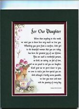 #48 A Present Poem 18th 21st 30th 40th 50th 60th Birthday Gift for a Daughter