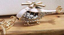 Bichon Frise hand painted  crystal key chain  charm