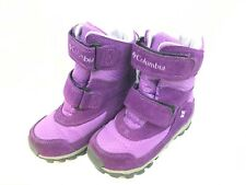 Columbia Youth Parkers Peak Boots Toddler Size 10 - Purple - EUC 40027