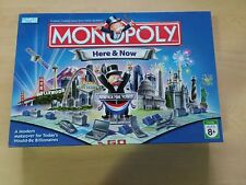 Monopoly Here & Now Edition Board Game Parker Brothers 100% COMPLETE