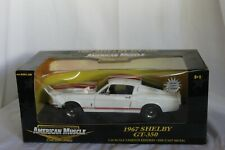 American Muscle by Ertl 1967 Shelby GT350 in White and Red 1:18 Scale