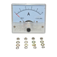 DC10A GB/T7676-98 Analog Panel AMP Current Meter Ammeter Gauge 85C1 White 0-10A