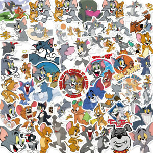 Kids Cartoon Stickers Tom and Jerry Pack for Skateboard/Luggage/Laptop 50PCS