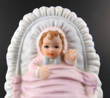 Collector Hallmark Enesco Porcelain Growing Up New Born Baby Girl Figurine (E18