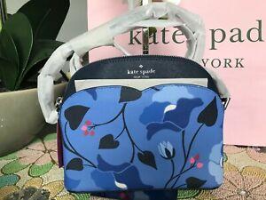 Kate Spade payton nouveau bloom dome crossbody wkru7089 blue multi
