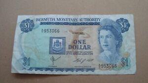 1970 Bermuda One Dollar Banknote