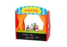Children's Wooden Theatre with Finger Puppets - Tabletop Puppet Theatre