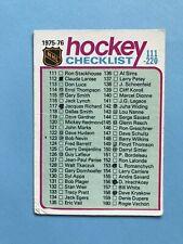 1975-76 O-Pee-Chee OPC Hockey Card Marked Checklist #171