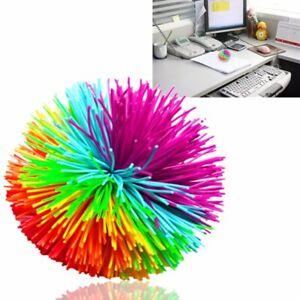 For Silicone Pom Koosh Ball Sensory Stretchy Stress Autism ADHD Active Fun Toy