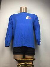 Mickey Mouse Blue Long Sleeve Medium (M) T-shirt DISNEYLAND. 100% Cotton