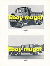 Mack Truck Factory Original Photo Sheet IDF tank transporteur dm895sx dm800 dm600
