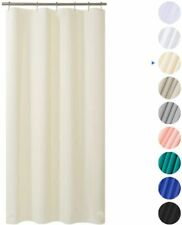 "AmazerBath Plastic Shower Curtain, 36"" W x 72"" H Beige EVA 8G Thick Bathroom Pla"