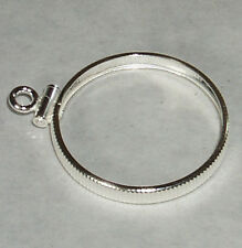 Coin Bezel Mount U.S. DIME Reeded Coin Edge Sterling Silver No Bail