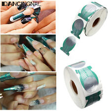 500Pcs Green Nail Art Acrylic UV Gel Tips Extension Sticker Form Decoration Tool