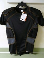 SHOCK DOCTOR Core SHOCKSKIN 5 PAD Impact Black Grey SHIRT 385 Mens Small NWT