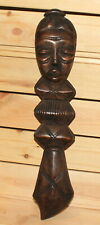 Vintage African hand carving wood wall hanging figurine