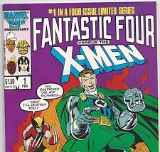 Fantastic Four vs. X-Men #1 Wolverine Mr.Fantastic Feb. 1987 in Fine con. DM