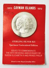 1972 Cayman Islands 25 Twenty Five Dollars KM# 10 Only 1200 Minted