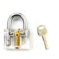 7 Pcs Pick Cutaway Visable Padlock Lock Locksmith Practice Training Skill Set O2
