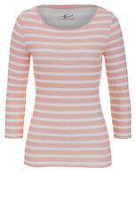 Figurbetonte 3/4 Arm Damen-Shirts ohne Kragen