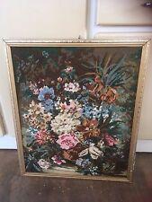 Tapiz Enmarcado Floral Diseño de Imagen Floral Decoración De Pared Colgante