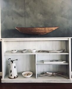 Rustic White Timber Bookcase