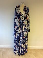 BNWT GINA BACCONI FLORAL PRINT MAXI DRESS & MATCHING WRAP/SCARF SIZE 18 RRP £199