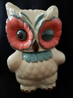 The Real Hoot Ceramic Winking Owl Cookie Jar/Canister