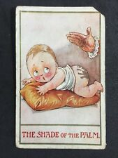 "Vintage Postcard: Comic/Seaside Humour: #A77 : Infantastic 1910 ""Shade Of Palm"""