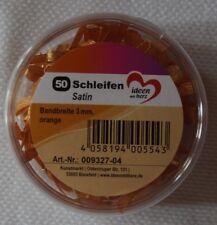 50 Mini SCHLEIFEN Satin In orange Ca 2 5cm breit Von Jittenmeier