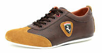 Mens Lace Up Trainers Leather Casual Sport Designer Fashion Gym Shoes UK Size