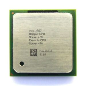 Intel Pentium 4 SL6PM 2.40GHz/512KB/400MHz FSB Prise/Socle 478 Processeur CPU