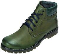 Abis Stiefel Boots Leder Herren Schuhe grün 1970SZT-592-242 40 - 46 Neu3