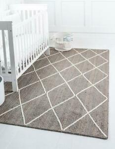 indian beautiful gray colorful rectangle with white dimond area living room rugs
