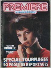 Revue Première n° 112 Juillet 1986 Juliette Binoche