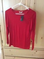 Women's, NWT, Carol Vee Rayon Top, Long Sleeve, Red, Size XS