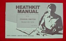 HeathKit Manual Coaxial Switch Model-1234
