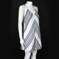 JOIE SOFT Delightful Blue White Striped Summer Tank Dress Cotton - XS