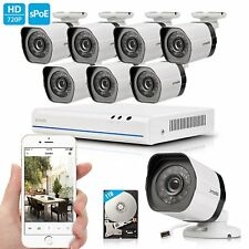 Zmodo 1080p 8CH HDMI NVR 1.0 Megapixel Video Home Security Camera System 1TB HDD