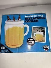 """Jarra de cerveza Escarchado Boca Grande Inflable Enfriador 18""""h×12""""w inflar y añadir hielo nuevo a1"""
