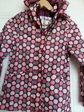 Crivit Outdoor Girls waterproof raincoat Pink burgundy dots Size 8-10 years