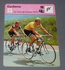 FICHE CYCLISME 1977 TOUR FRANCE THURAU PRONK WIELRIJDER CICLISMO