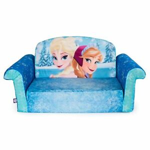 Marshmallow Furniture, Children's 2 in 1 Flip Open Foam Sofa, Disney Frozen, by
