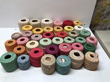 39 Partial Spools Of Crochet Thread