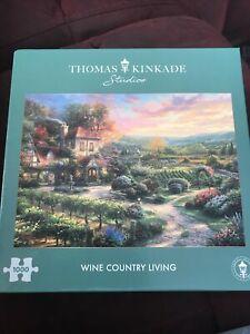 GIBSONS 'Thomas Kinkade Wine Country Living.' 1000 Piece Jigsaw Puzzle