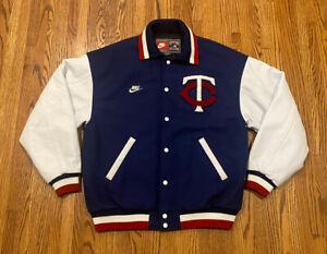 Minnesota Twins Cooperstown Nike Wool Leather MLB Baseball Letterman Jacket Rare
